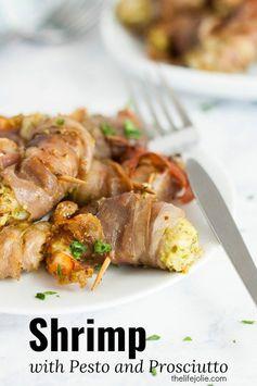 Shrimp with Pesto and Prosciutto