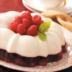 Snowy Raspberry Gelatin Mold