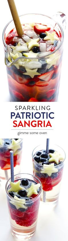 Sparkling Red, White and Blue Sangria