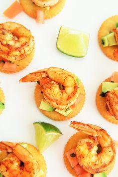 Spicy Shrimp and Avocado Salsa Bites