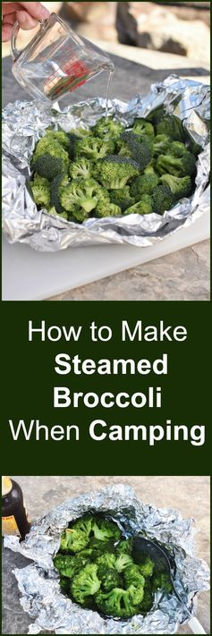Steamed Broccoli is a great Camping Food