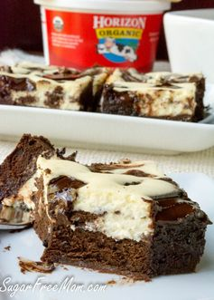 Sugar-Free Cheesecake Brownies (Gluten Free and Low Carb