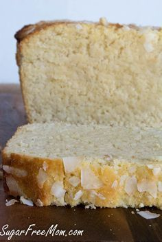 Sugar Free Lemon Coconut Pound Cake (Low Carb and Grain Free
