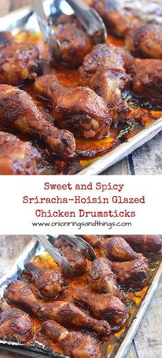 Sweet and Spicy Sriracha-Hoisin Glazed Chicken Drumsticks