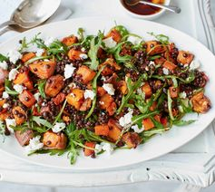 Sweet potato, lentil and feta salad