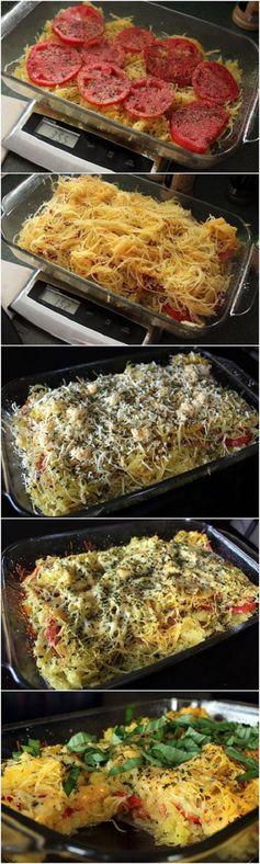 Tomato & Basil Spaghetti Squash Bake