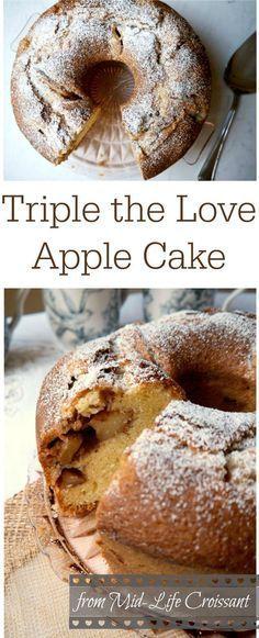Triple The Love Apple Cake